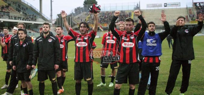 Aversa-Foggia 1-3 gara vibrante vinta dai rossoneri