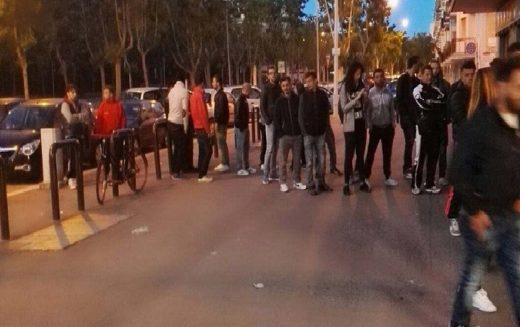 In fila di notte per un biglietto per il derby