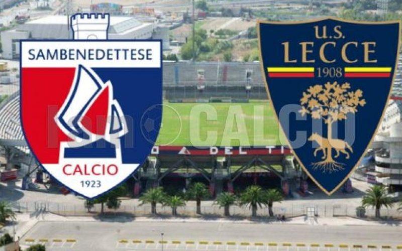Sambenedettese-Lecce 1-1 Calcio legapro, playoff: andata degli ottavi di finale