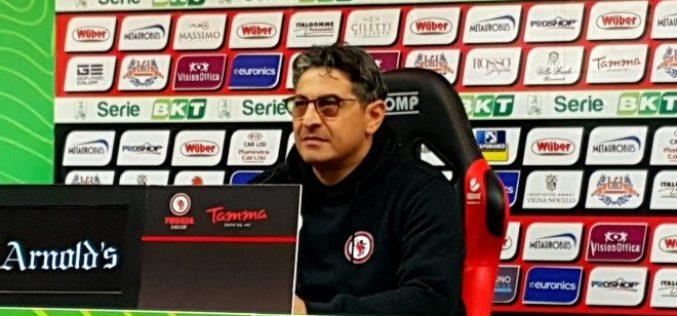 """Foggia, Padalino: """"Serve la giusta leggerezza per far bene"""""""