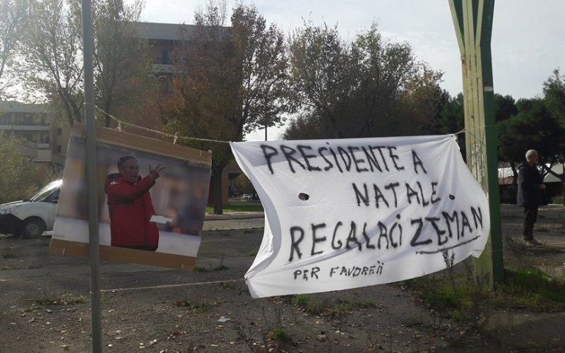 "Foggia, striscione nostalgico: ""Presidente, a Natale regalaci Zeman"""