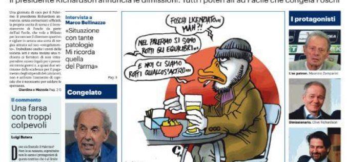 """QUI PALERMO – <i>Giornale di Sicilia</i> sul caos societario: """"Pasticcio rosanero"""""""