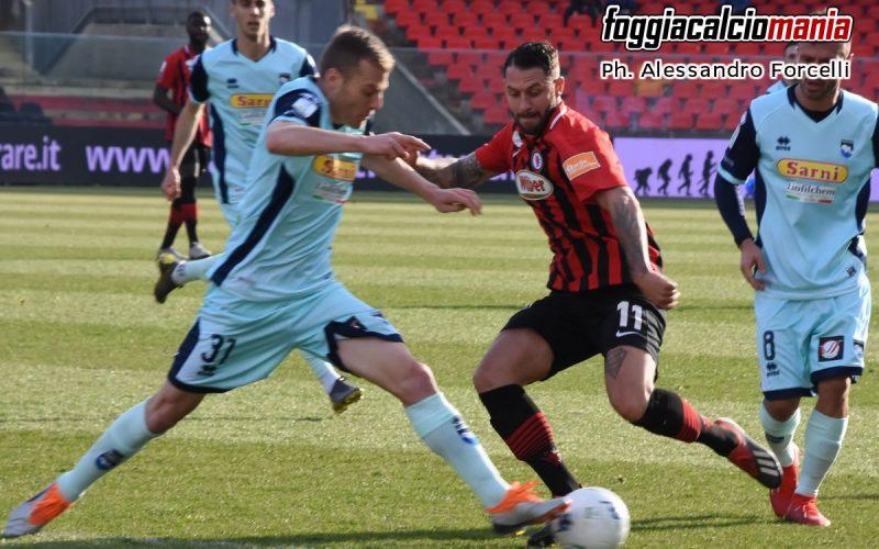 Mancuso risponde a Deli: è 1-1 tra Foggia e Pescara