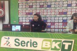 """Greco: """"Pensiamo al campo e il nostro pensiero è rivolto a Lecce"""""""
