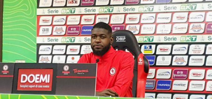 """Billong: """"Contro il Brescia dobbiamo essere concentrati perché possiamo vincere"""""""