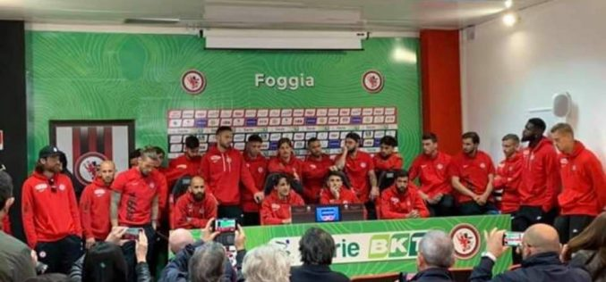 Foggia, la conferenza stampa, parla la squadra