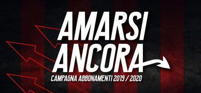 Campagna abbonamenti: domani vendita libera al botteghino dalle ore 17.00