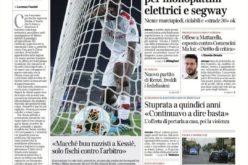 """<i>Corriere di Verona</i>: """"Macché buu razzisti a Kessié"""""""