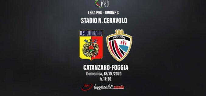 Catanzaro-Foggia: le ultimissime dal Ceravolo