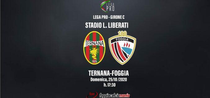 Ternana-Foggia: le ultimissime
