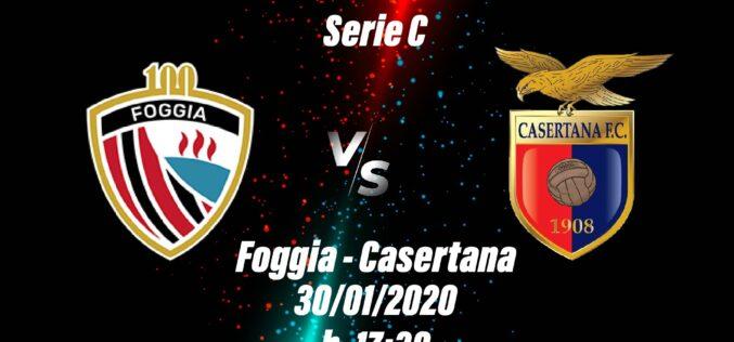 Foggia-Casertana: le ultimissime