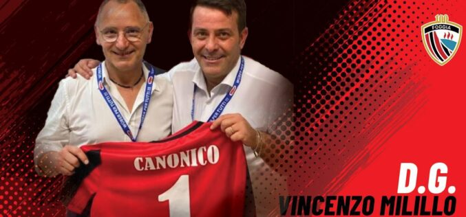 Vincenzo Milillo è il nuovo DG del Calcio Foggia 1920